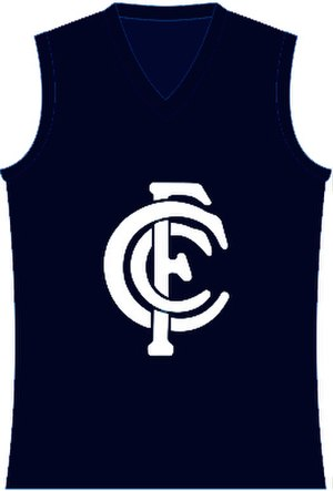 AFL Queensland Women's League - Image: Carlton FC Guernsey