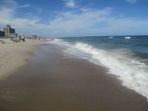 New Hanover County, North Carolina - The surf at Carolina Beach in New Hanover County