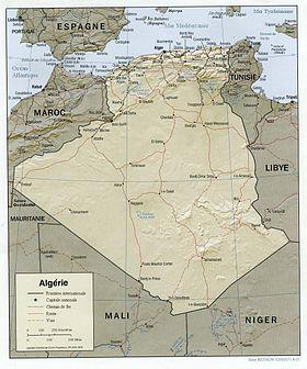 Carte Geographique De Lalgerie.Geographie De L Algerie Wikipedia