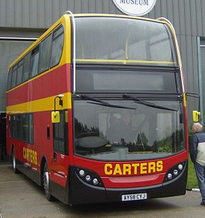 Carters Coach Services - Alexander Dennis Enviro 400 at Ipswich Transport Museum in February 2009