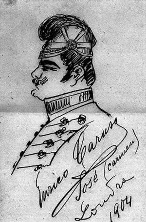Enrico Caruso - Caruso's sketch of himself as Don José in Carmen, 1904