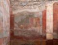 Casa della fontana piccola, cortile con affreschi e fontana mosaicata 08.jpg
