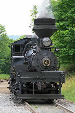 Cass Scenic Railroad State Park - Image: Cass Scenic Railroad State Park Shay 4