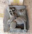 Castiglione olona, palazzo branda, interno, capitello con donna su leone, 1420 ca.jpg