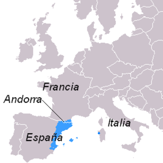 La Franja - Territorial area of the Catalan language, including Valencian