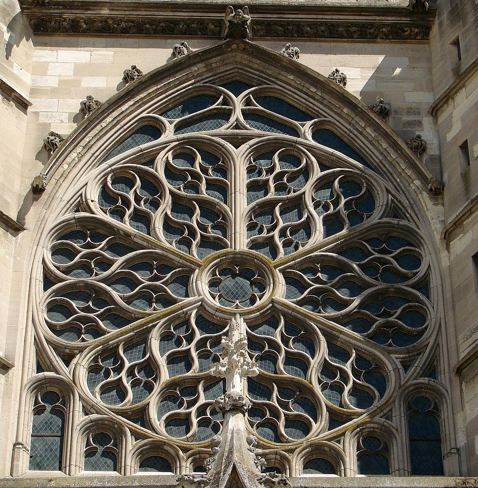 Cathédrale de Meaux Façade Rose 140708