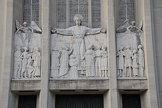 Cathedral of St. Joseph (Hartford, Connecticut) - Image: Cathedral of St Joseph Hartford CT front wall detail