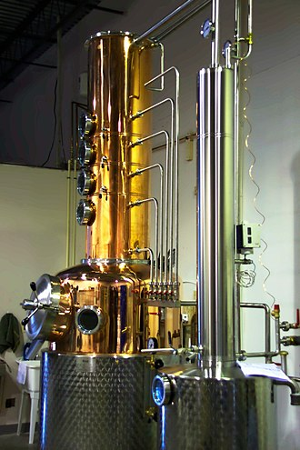 Microdistillery - A custom-made 400 liter Kothe hybrid pot-column still operated by the Catoctin Creek Distilling Co. of Purcellville, Virginia.