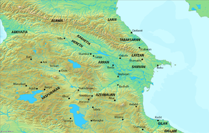 Ibrahim I of Shirvan - Map of Caucasus and its surroundings.