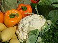 Cauliflower, bell peppers, DSCF1619.jpg