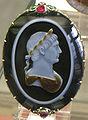 CdM, busto di traiano, 100 dc. circa, cornice con due rubini della fine del XVII sec..JPG