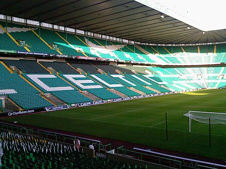 Celtic Park, the biggest stadium by capacity used in the SPL. Celtic Park, 2007.jpg