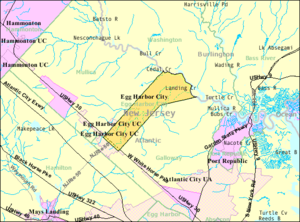 Egg Harbor City, New Jersey - Image: Census Bureau map of Egg Harbor City, New Jersey