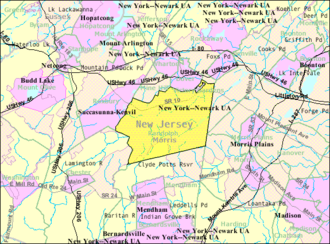 Randolph, New Jersey - Image: Census Bureau map of Randolph, New Jersey