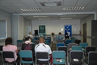 Ceres, Western Cape - The conference rooms with separating wall collapsed on the day of the handover.