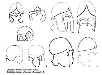 Thracian warfare - Chalcidian type helmets worn by Thracians, mid-4th century BC and older forms