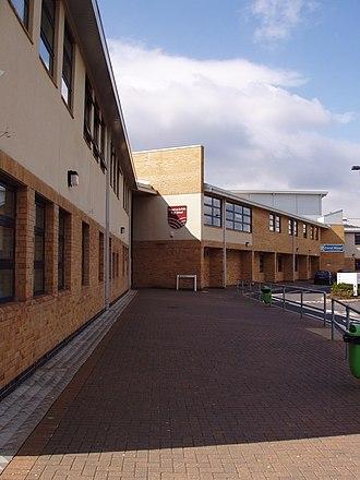 Chapel-en-le-Frith High School - Along the front of the school, towards reception