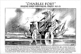 Charles Fort, ink drawing by Arman Manookian, Honolulu Academy of Arts.jpg