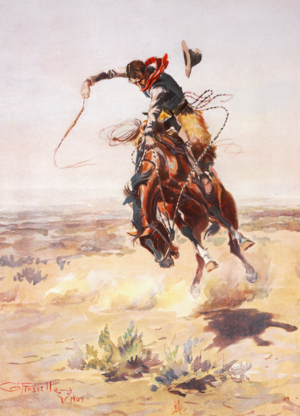 """""""A bad hoss"""" by Charles Marion Russe..."""