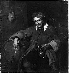 De oude drinker (naar Gabrïel Metsu)