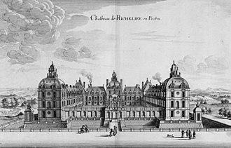 Château de Richelieu - Image: Chateau de Richelieu engraving 17th century