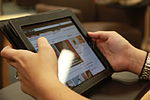 Cherry Point library makes first major push to iPad use 120706-M-FL266-010.jpg
