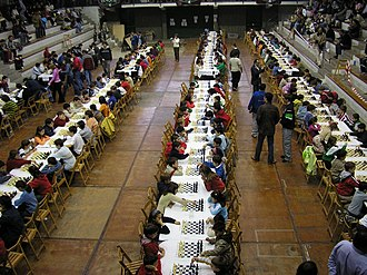 Chess tournament - A large youth chess tournament in Spain