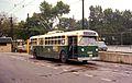 Chicago trolley bus 9567, North & Narragansett loop, 1968.jpg
