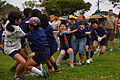 Children play a game of tug of war in the 21st Friendship Jamborette at the Tamagusuku Youth Center and Gusuku Road Park in Gusuku, Japan, March 3, 2012 120303-M-BC982-099.jpg