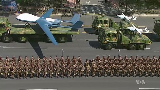 China Announces Troop Cuts at WWII Parade (screenshot) 201591801334