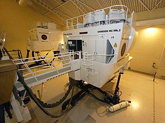 RAF Benson - A Boeing Chinook flight simulator at RAF Benson