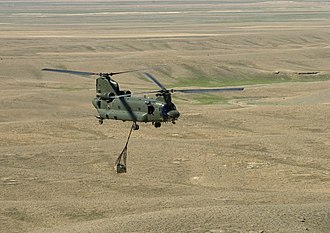 No. 27 Squadron RAF - A Chinook operating over the mountains of Afghanistan