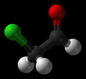 Chloroacetaldehyde - Image: Chloroacetaldehyde 3D balls