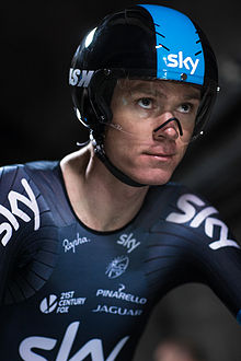 Chris Froome - The First Man to Cycle through the Eurotunnel (14593562145).jpg