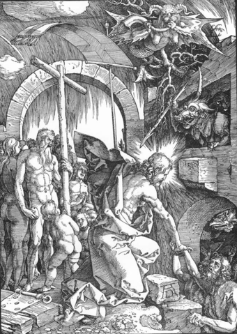 Christ's Descent into Limbo, woodcut by Albrecht Durer, c. 1510 Christ's Descent into Limbo by Durer.png