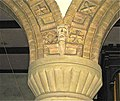 Christ Church, Welshpool. Terracotta detailing on thearch above the limestone Romanesque revival column capital.JPG