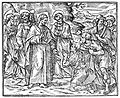 Christ cures a leper; an apostle holds a garment in front of Wellcome L0016740.jpg
