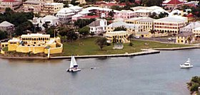 Aerial view of Christiansted