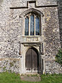 Church of the Holy Cross, Goodnestone - tower west door and window 01.jpg