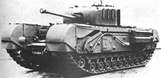 Vauxhall Motors - A Mk IV Churchill tank (75mm), of which 7,368 were manufactured by Vauxhall between 1941 and 1945