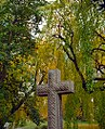"Cincinnati - Spring Grove Cemetery & Arboretum ""Cross Inside The Weeping Higan Trees"" (7504984536).jpg"