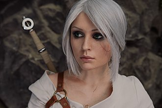 Cosplay - A model cosplaying Ciri, one of the main characters of The Witcher 3: Wild Hunt