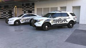Marshal - City of Las Vegas Deputy City Marshals units parked just outside of the Fremont Street Experience.