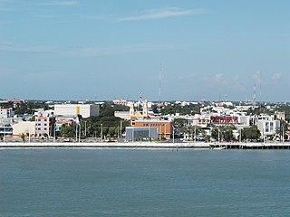 Ciudad del Carmen City in Campeche, Mexico