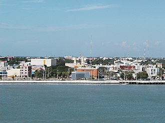 Ciudad del Carmen - View of the city from the Terminos Lagoon