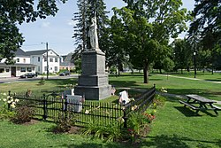 A Civil War memorial stands in Swanton's Village Green, in the center of town.