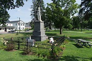 Swanton (town), Vermont - A Civil War memorial stands in Swanton's Village Green, in the center of town.