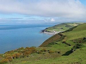 Aberystwyth - View of Clarach Bay from Constitution Hill, Aberystwyth