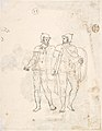 Classical Landscape with Ruins (recto); Two men in Roman military dress (verso) MET DP800720.jpg