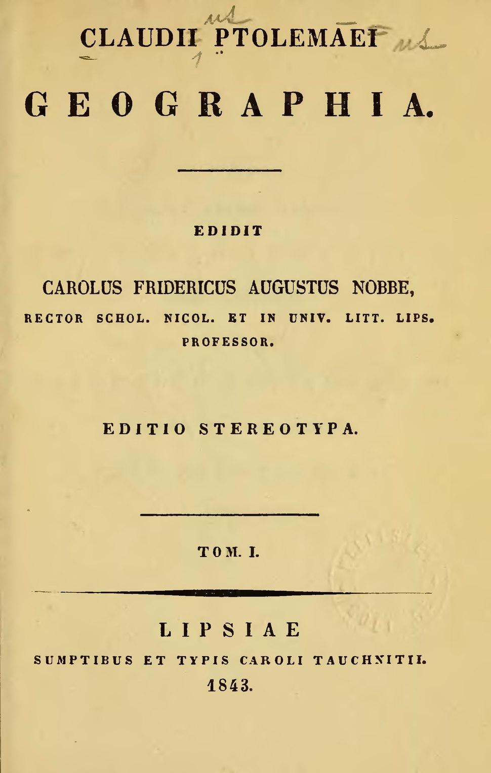 Claudii Ptolemaei geographia, 1843, vol1.djvu&page=7